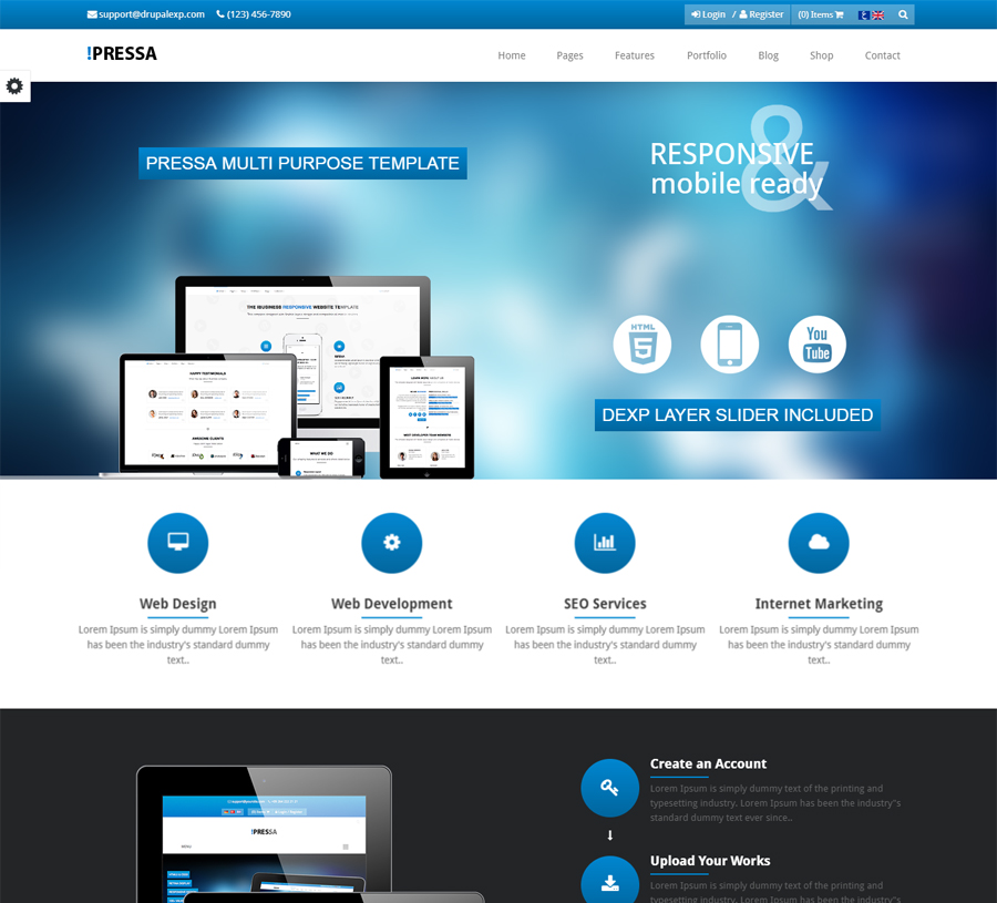 Pressa Theme Preview 03