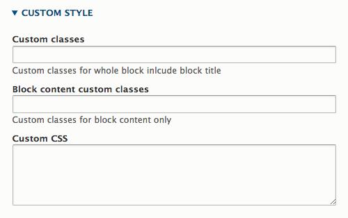 Block Custom Styles
