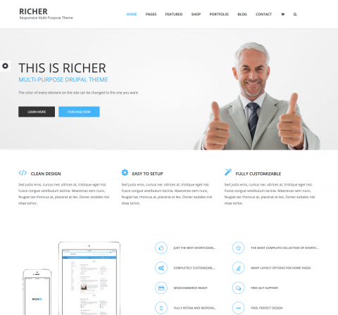 Richer Drupal Theme